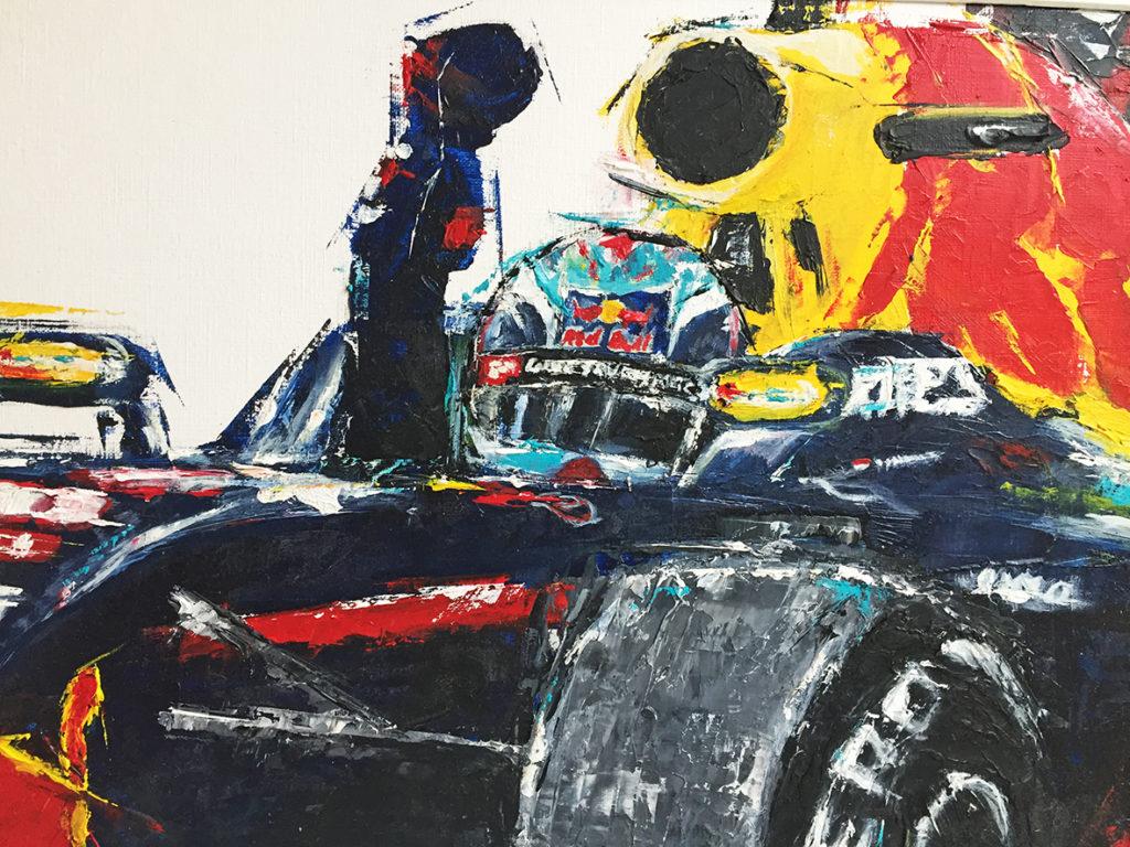 Max Verstappen Oil painting
